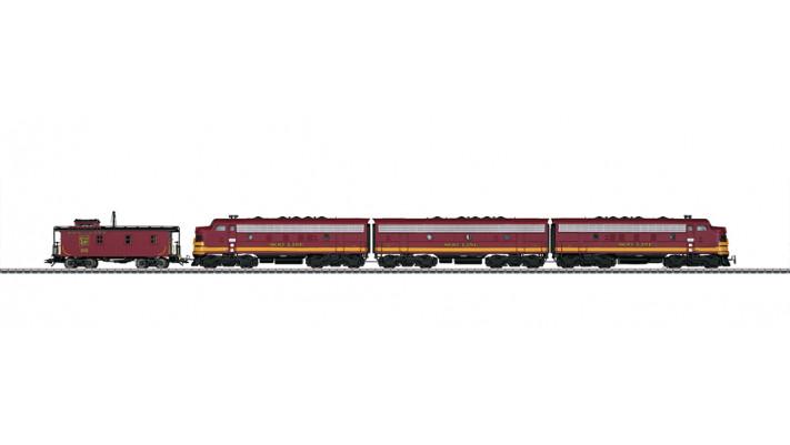Diesellok F7 mit Cabboose Soo