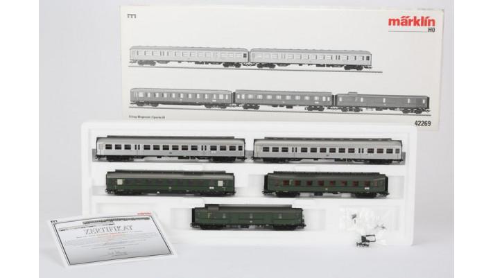 Coffret de voitures pour trains directs