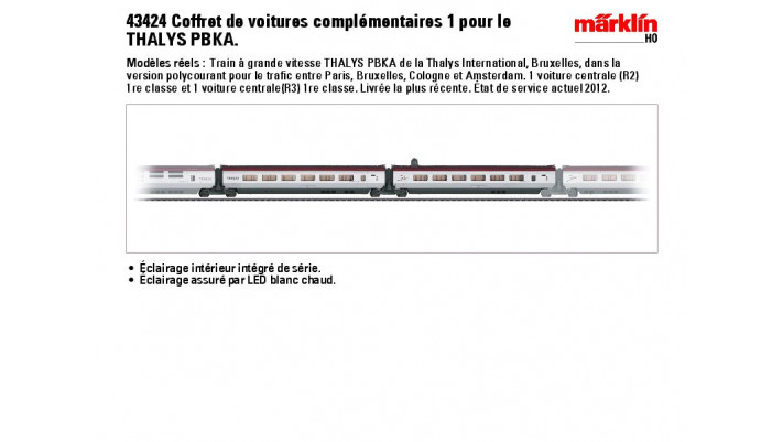 Erg?zungs-Set 1 Thalys BE 43