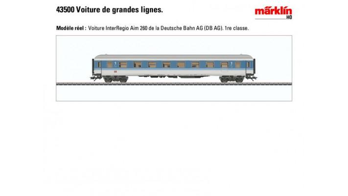 Voiture de grandes lignes InterRegio 1.