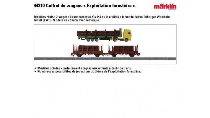 Coffret de wagons « Exploitation forestière »