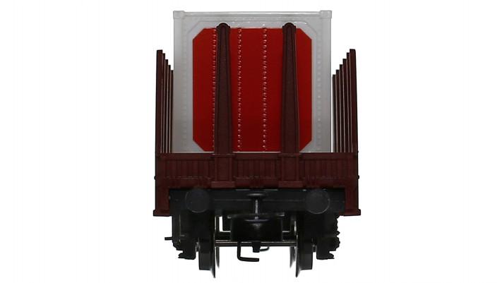Rungenwagen mit Container