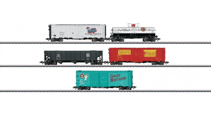 US-Güterwagen-Set