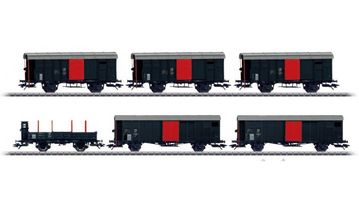 Coffret de 6 wagons marchandises
