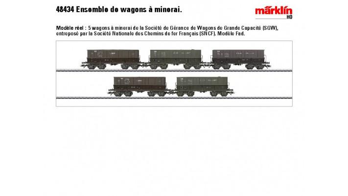 Erzwagen-Set Mineraliers SNCF