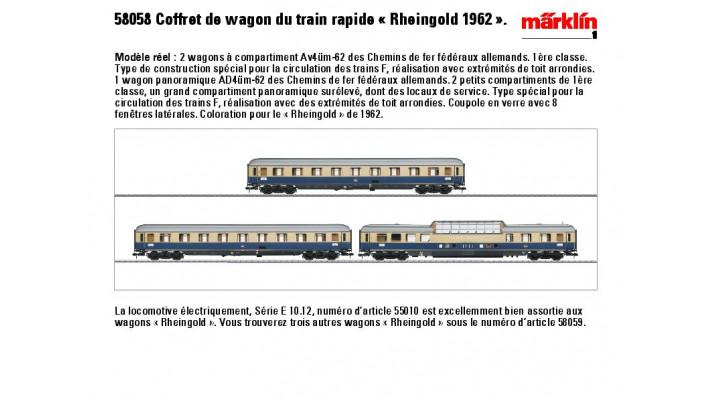 Wagenset Rheingold 1962 DB
