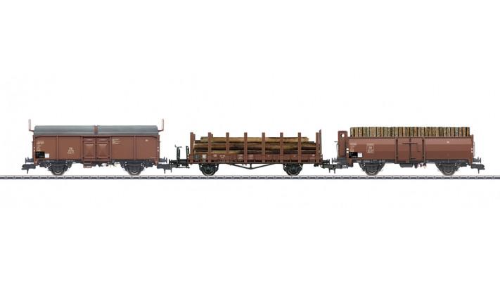 Güterwagen-Set Holzverladung