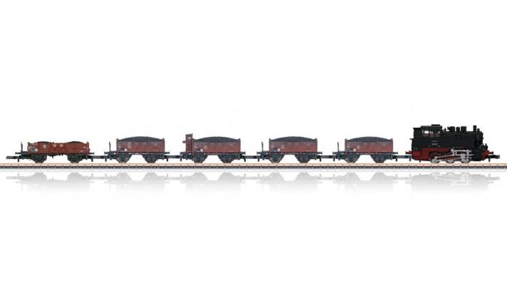 Set de train vapeur BR 80 et 5 wagons tombereaux