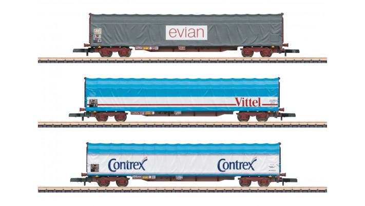 Coffret de wagons à bâche coulissante SNCF