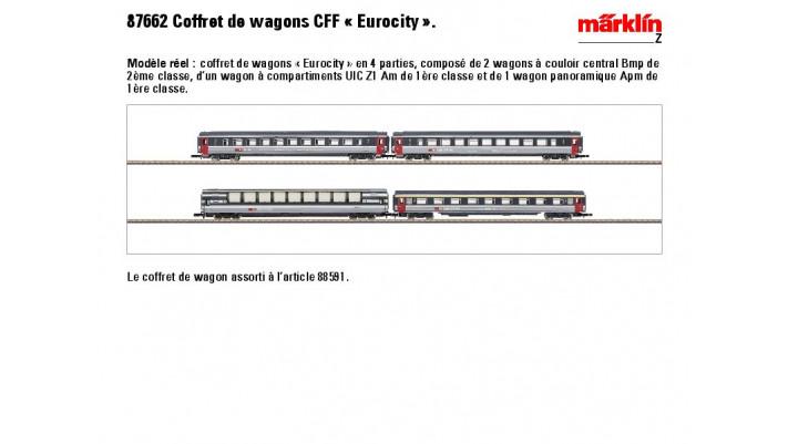 Wagenset Eurocity SBB