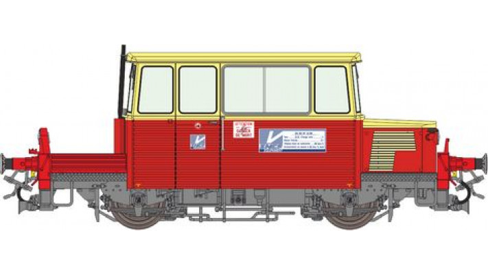 DU65 6 119 Ep.V Equipement, rouge et crème, toit crème - logo UIC - DC