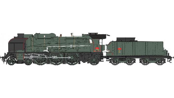 5-231G 18SUD EST NEVERS Ep.III  SNCF   - Dôme carénés - ANALOGIQUE