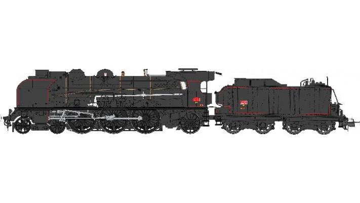 MACHINE 1-231K-9 EST Noire NANCY Ep.III SNCF - DCC Sonorisée - Fumée P