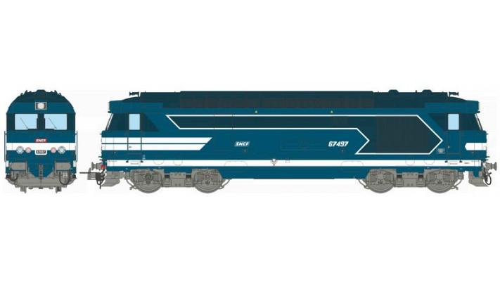 BB 67497, Dépôt de NÎMES, Logo encadré peint Ep.IV-V - DCCSOUND 3 Rail