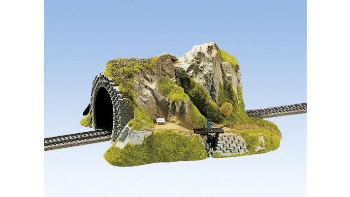 Tunnel Droit, 1 voie, 34 x 27 cm