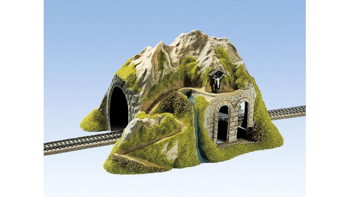 Tunnel, Droit, 1 voie, 34 x 26 cm