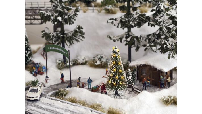 Arbre de Noël, illuminé