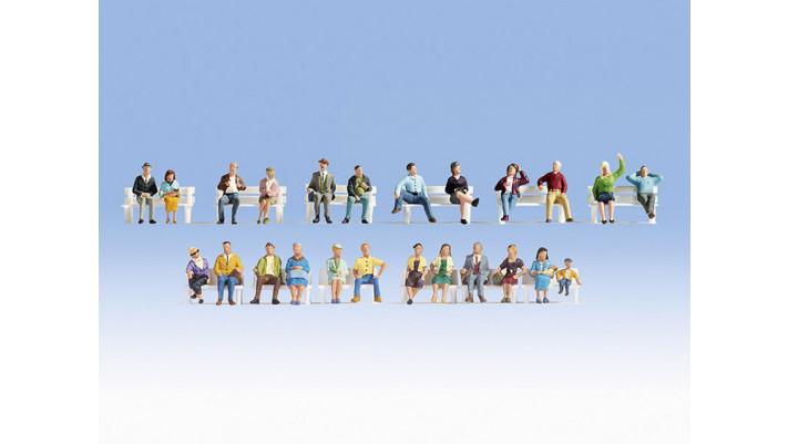 Set de figurines XL Gens assis
