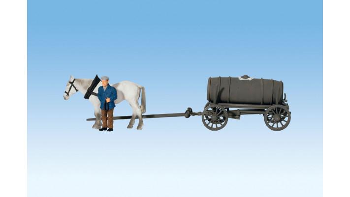 Chariot avec Tonneau à Purin