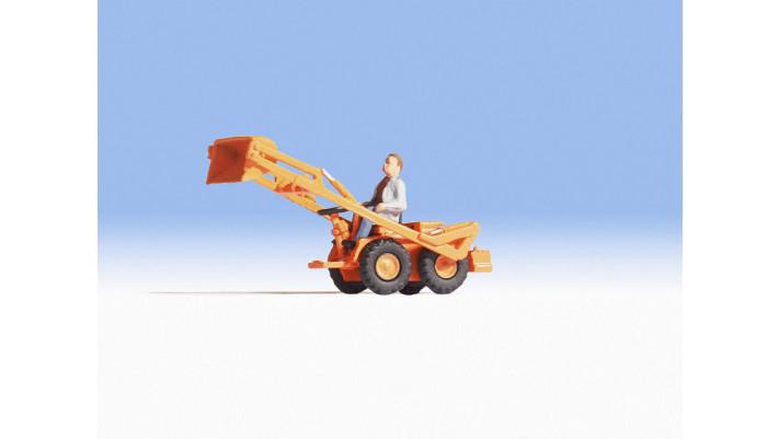 Tracteur avec chargeur frontal
