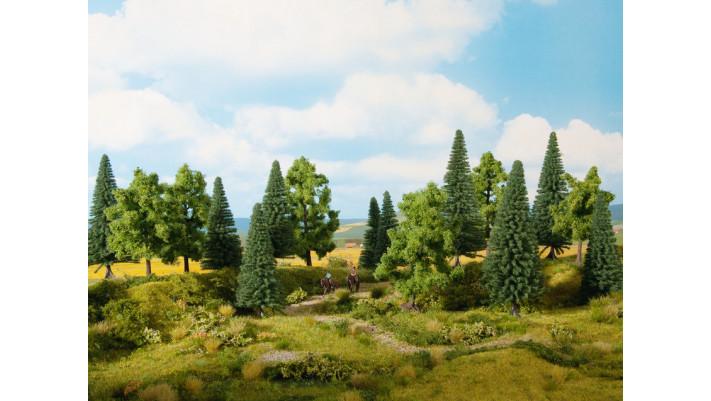 Forêt Mixte, 8 pièces, 10 – 14 cm, H0,TT