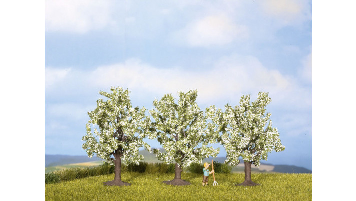 Arbres fruitiers, blanc