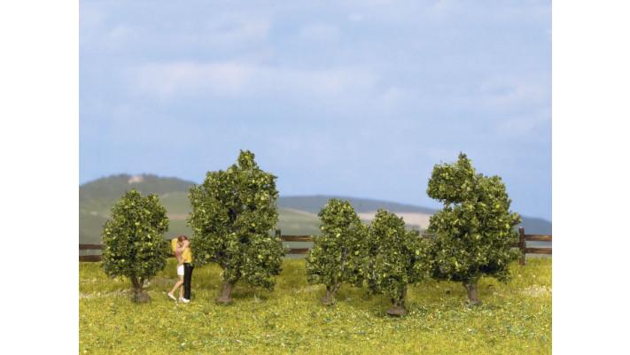 Arbustes, vert, 5 pcs., 3 - 4 cm