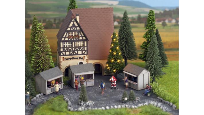 Arbre de Noël verte, illuminé