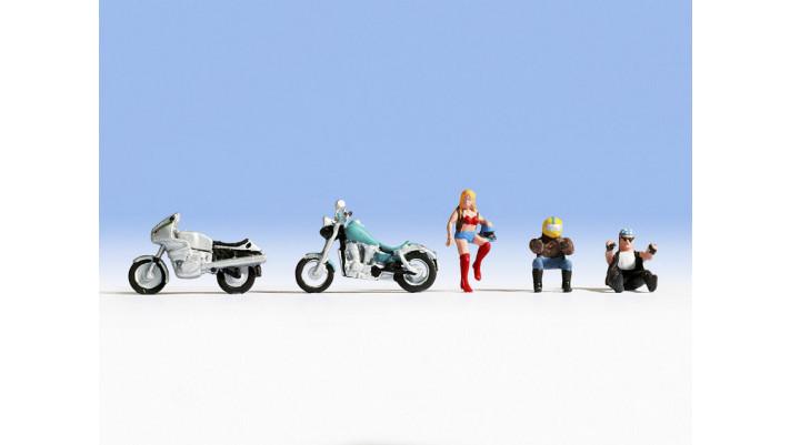 Motos et motocyclistes