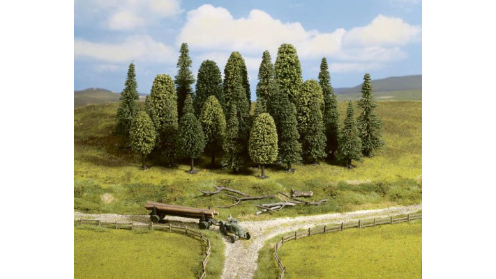 Mischwald, 25 Bäume, 65-150 mm