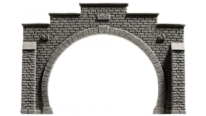 Entrée de tunnel, 2 voies, 21 x 14 cm