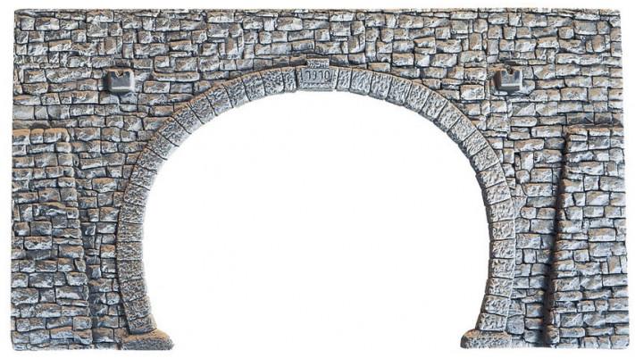 Portail de Tunnel, 2 voies, 23,5 x 13 cm
