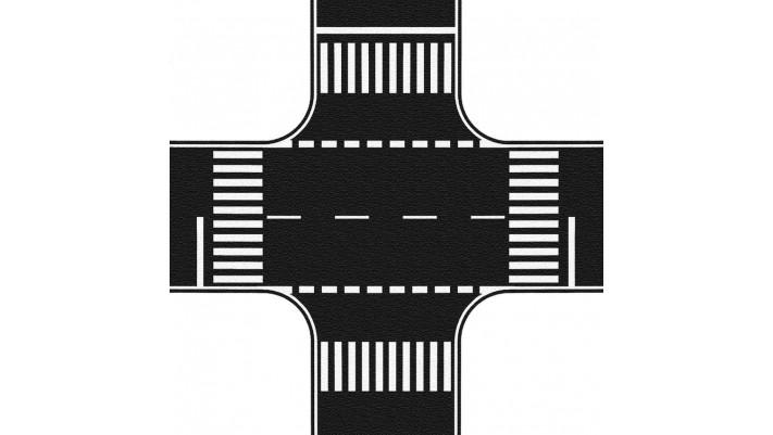 Carrefour asphalte, 22 x 22 cm