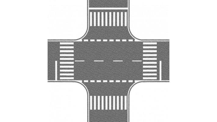 Carrefour gris, 22 x 22 cm