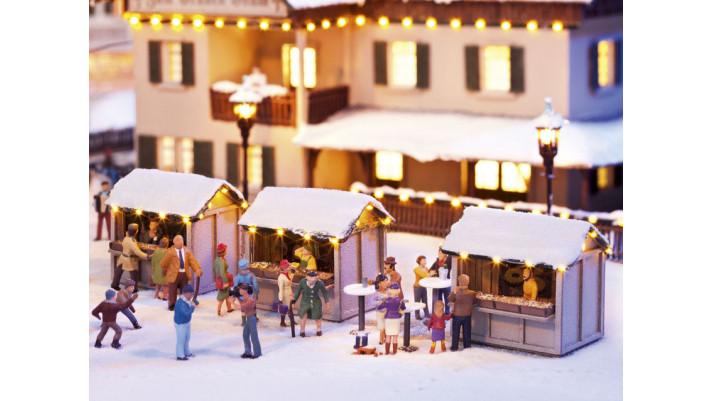 Stands du marché de Noël