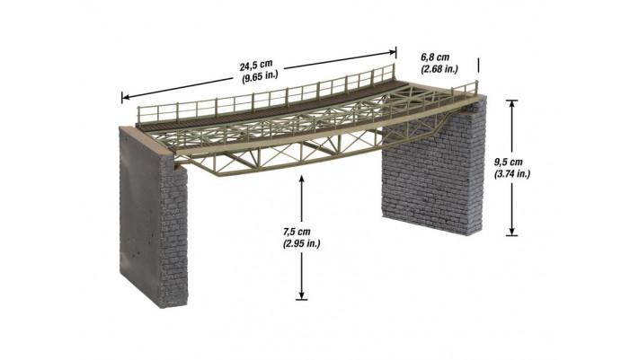 Tablier du pont courbe, radius (R2) 437 mm