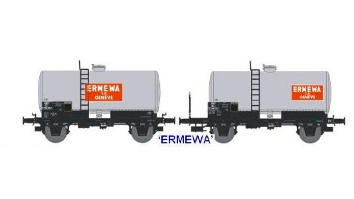 N  CITERNES Soudée OCEM 29 Ep.III SET de 2 Wagons  ERMEWA S.A.GENEVE