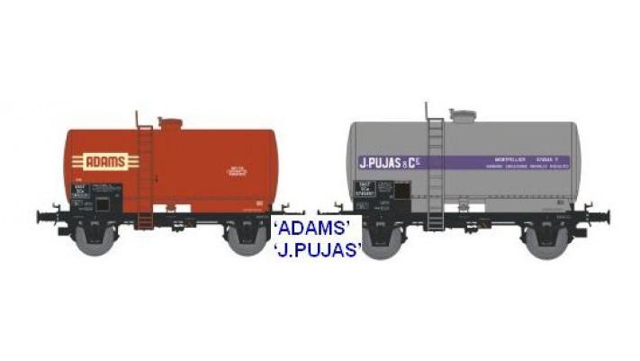 N  CITERNES Soudée OCEM 29 Ep.III SET de 2 Wagons  ADAMS / J.PUJAS
