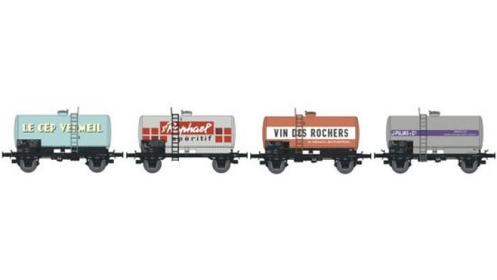 N  CITERNES Soudée OCEM 29 Ep.IV SET de 4 Wagons DIVERS