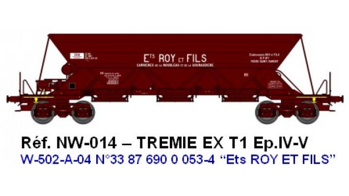 "N  W502A04  TREMIE EX T1 Ep.IVV  N°33 87 690 0 0534 ""Ets ROY ET FILS"""
