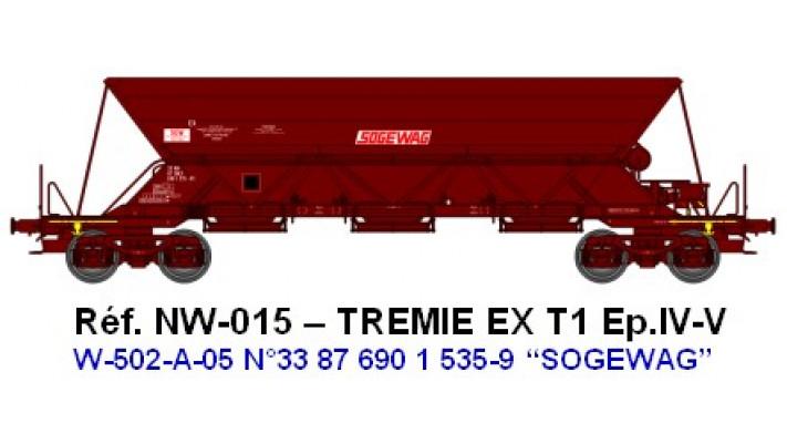 "N  W502A05  TREMIE EX T1 Ep.IVV  N°33 87 690 1 5359 ""SOGEWAG"""