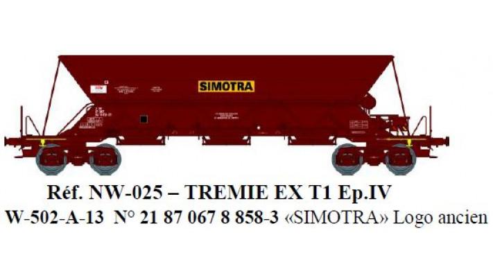 """N  W502A01 TREMIE EX T1 Ep.IV  N°21 87 067 8 8583 """"SIMOTRA"""""""