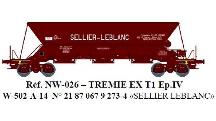 """N  W502A02 TREMIE EX T1 Ep.IV  N°21 87 067 9 2734 """"SELLIERLEBLANC"""""""