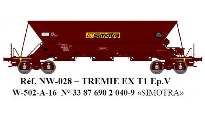 "N  W502A04  TREMIE EX T1 Ep.IVV  N°33 87 690 0 7612 ""SIMOTRA"""