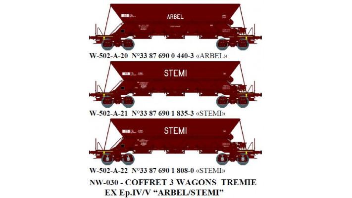 """N  W502A12  TREMIE EX Ep.V  N°33 87 690 0 4403 """"ARBEL"""" / N  W502A13  T"""