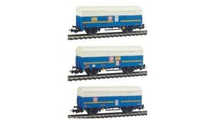Set de 3 wagons couverts