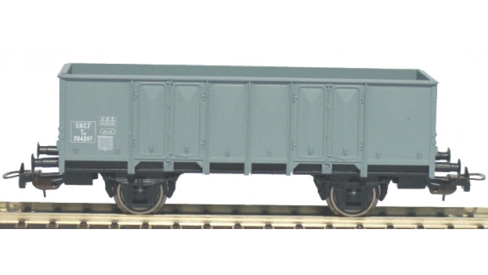 Wagontombereau gris clair2 essieux SNCF Ep III