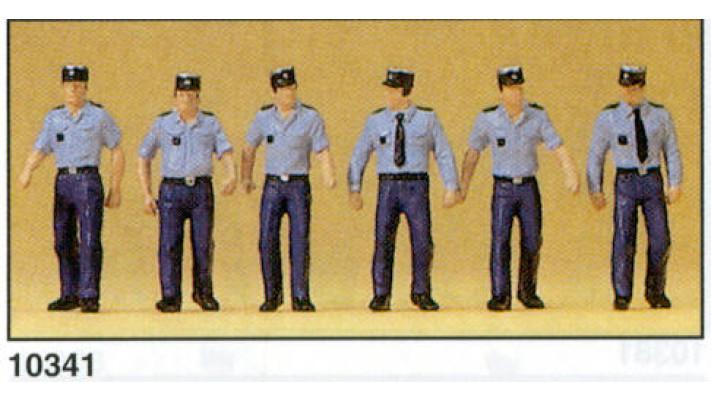 policier francais marchant