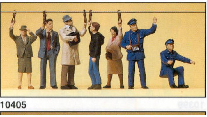 personnel de train et passagers