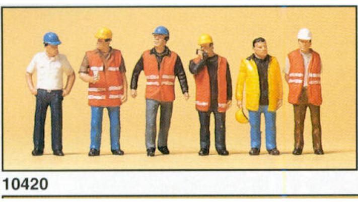 ouvriers avec gilet de signalisation